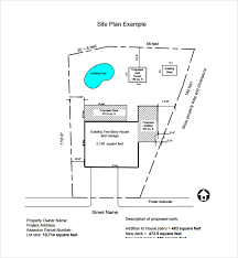 Site Plan Template Sample Site Plan Template 9 Free Documents In Pdf Word