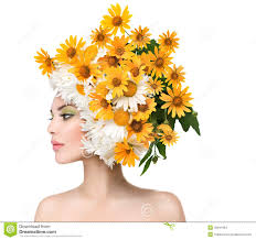 Flower Hair Style beauty girl with daisy flowers hairstyle stock photo image 42041064 3252 by wearticles.com
