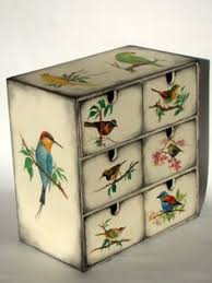 decoupage ideas for furniture. decoupage birds onto a piece of furniture ideas for o