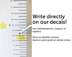 Wallclipz Personalized Growth Chart Fabric Wall Decal