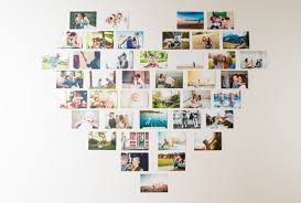 4 photo heart collage