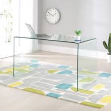 glass desks for home office. Image Is Loading Geo-Glass-Large-Clear-Glass-Desk-Modern-Home- Glass Desks For Home Office R