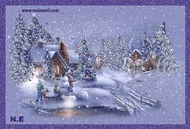 Animated Snow Scenes Beautiful Scene Winter Snow Falling Bing Images Favorite