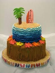 Hawaiian Theme Cake Luau Birthday Party Pics Tanimasorkar