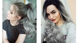 สไตลสผม Grey Ombre ไลเฉดสเทา ผมสน ผมยาว กปง Hair
