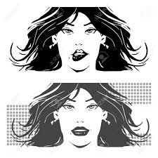 Woman Face Simple Illustration