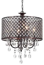 mariella 4 light crystal drum shade chandelier