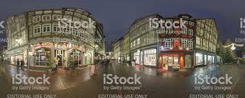Weihnachten Beleuchtung Auf Straßen Im Stadtzentrum Von Hannover.  Lizenzfreies Stock Foto