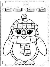 Kindergarten Winter Worksheets Color Activities For Preschoolers ...