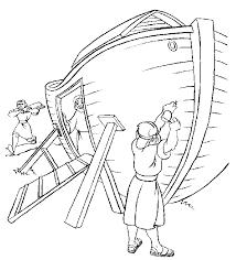 Kleurennu Ark Van Noach Wordt Gebouwd Kleurplaten