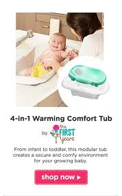 4 in 1 warming comfort tub by the first years from infant to