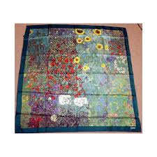 gustav klimt famous painting huge quality silk scarf