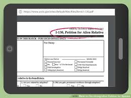 uscis form i 130 how to file immigration petition for spouse 12 steps