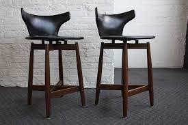 Mid Century Modern Bar Stools Black