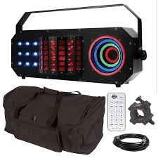 american dj boom box fx3 3 fx in 1 effect light with universal remote control carry case package