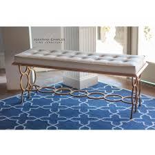 Padded Bench For Bedroom Designer Bedroom Upholstered Bench Gilded Swanky Interiors