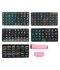 Imported Nail Art Stamping Kit With 5 Image Plate Gift For Woman ...