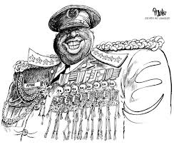 Image result for idi amin cartoons