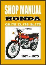 honda cb175 manual honda workshop manual cb175 cl175 sl175 1971 1972 1973 service and repair