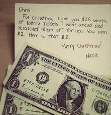 Funny pictures about Lottery tickets are the best last minute Christmas  gifts. Oh, and cool pics about Lottery tickets are the best last minute  Christmas ...