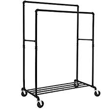 double rail clothes rack. SONGMICS Industrial Pipe Double Rail Clothes Rack On Wheels With Commercial Grade Clothing Hanging Organizer