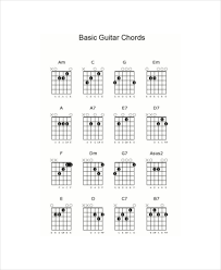 Basic Guitar Chord Chart Template - 7+ Free Pdf Documents Download ...