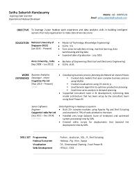 Hadoop Developer Resume Unique Resume Sethu Sabarish Kandasamy