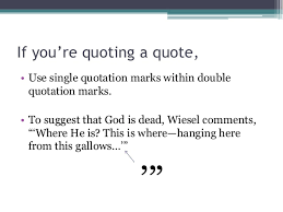 How to quote a quote