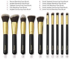 emily make up brush hot sell 10pcs brand name makeup kit