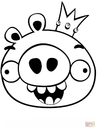 king smoothcheeks king pig is sleeping from angry birds