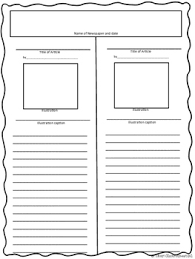 Newspaper Article Template Students Newspaper Article Templates Free