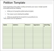 Petition Form Template Under Fontanacountryinn Com
