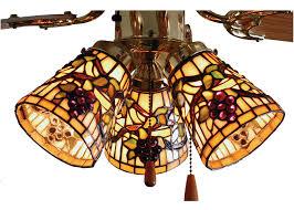Tiffany Ceiling Fan Light Shades Meyda 67013 Tiffany Jeweled Grape Fan Light Shade