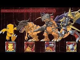 Digimon Armor Evolution Chart Digivolution Guide For Digimon Rearise Youtube