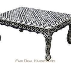 bone inlay coffee table stool coffee