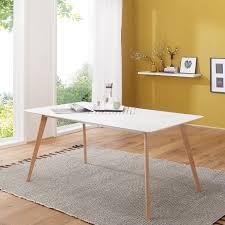 Esstisch Holz 160x76x90 Cm Esszimmertisch Weiß Modern Holztisch Für Esszimmer Weißer Küchentisch Mdf Robuster Tisch Mit Weisser Tischplatte