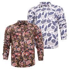 Long Sleeve Designer Shirts Details About Mens Party Long Sleeve 100 Cotton Casual Designer Shirt By Brave Soul