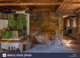 Wohnzimmer Mit Kachelofen Im Markus Wasmeier Bauernhof Und