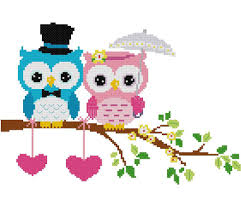 Owl Cross Stitch Pattern Classy Unique Wedding Gift Singapore Instant Download Cross Stitch