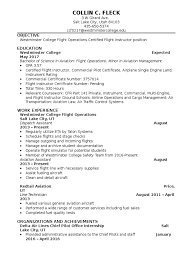 Resume Westminster Flight Instructor Pilot Aeronautics