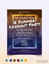 Summer Cookout Flyer Template Word Psd Indesign