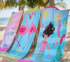 Classic Mermaid Beach Towel Pottery Barn Kids