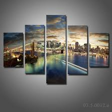 amazing landscapescape pictures no frame canvas only five pieces large painting new york city wall art  on large framed canvas wall art with wall art amazing gallery about new york city wall art new york city