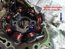 motorcycle charging for hid full wave conversion techy at day remove the ered wire to the stator body to float all windings all windings must not touch the body of the stator full wave will have its own ground
