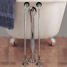 single offset tub supplies for wall mounted faucets