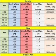 Healthy Muscle Mass Percentage Chart Pin On Profile Recipe