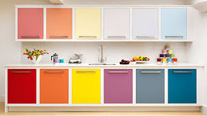 Modular Kitchen Wall Cabinets Red Modular Kitchen Cabinet Design With Granite Countertops And