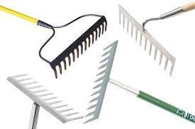 garden rake. Garden Rakes Come In Two Styles: Flathead (sometimes Called Level Head) Or Bow Rake