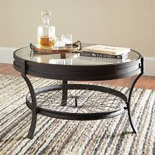 image is loading coaster round glass top coffee table in sandy