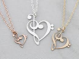 note necklace treble clef g clef ivydesign note necklace